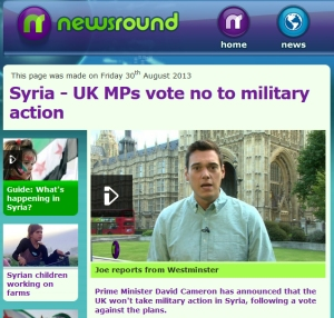 Joe Tidy, Newsround, Syria
