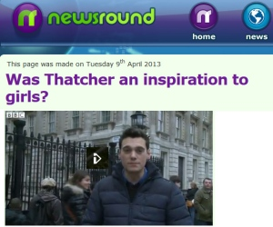 Thatcher Newsround Joe Tidy